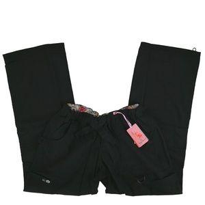 Koi Scrub Cargo Pants Black 701-002 Lindsey